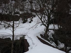 当初予定の下山口はこの橋の遥か先
