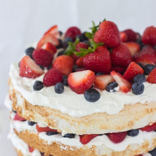 10 best angel food cake icing whipped cream recipes angel food cake with coconut whipped cream and berries recipe forumfinder Gallery