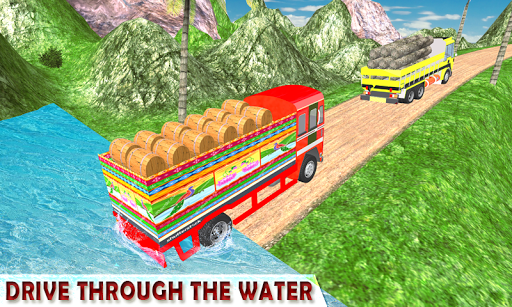 Indian Cargo Truck Driver Simulator apkpoly screenshots 2