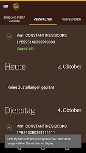 UPS Mobile – Miniaturansicht des Screenshots