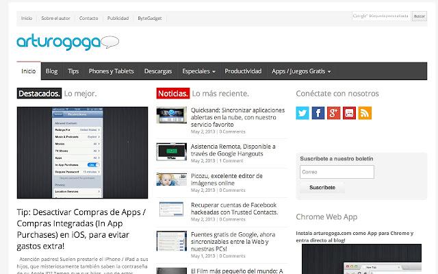 arturogoga.com news