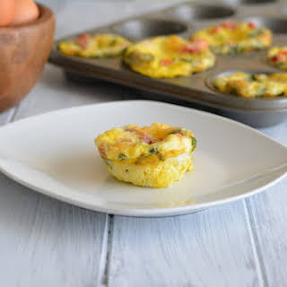 Roasted Pepper & Spinach Egg Muffin.