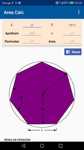 Geometry, Area and Perimeter Calculator 1.1.2 screenshots 2