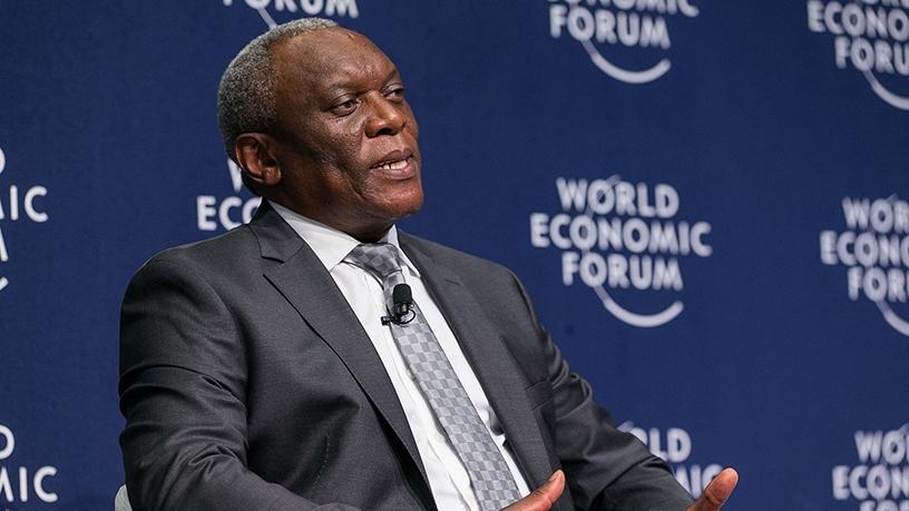 Telecoms and postal services minister Siyabonga Cwele. (Photo source: WEF)