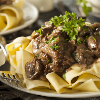 Healthiest Beef Stroganoff Around.