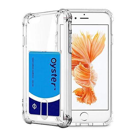 iPhone 6/6S - Praktiskt Silikonskal med Korthållare FLOVEME
