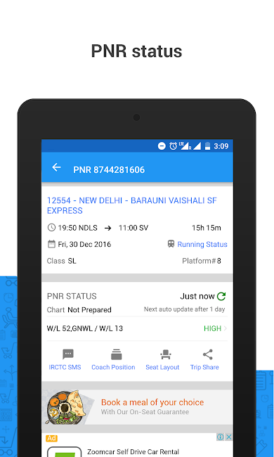 #10. PNR Status & Indian Rail Info (Android)