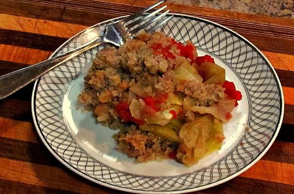 Cabbage Turkey And Quinoa Casserole