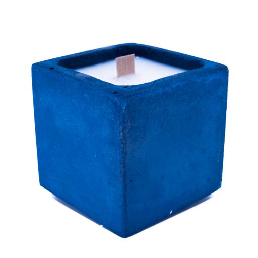 BOUGIE BETON bleu pétrole