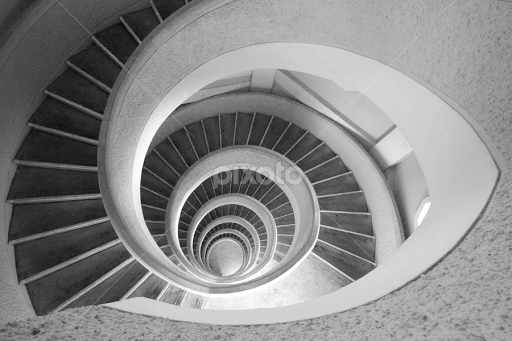 Gentil Circle Stairs By Angelus Agustinus   Abstract Patterns