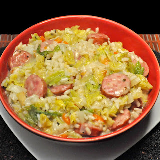 Sausage, Savoy Cabbage Risotto