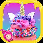 Unicorn Rainbow Cup Cake-DIY Kids Cooking Game
