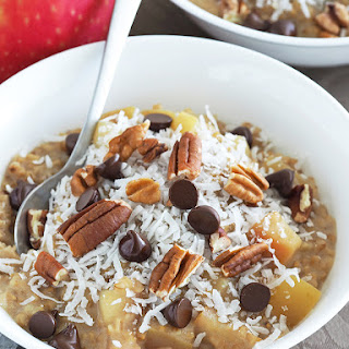 Nutty Apple and Chocolate Chip Oatmeal Recipe