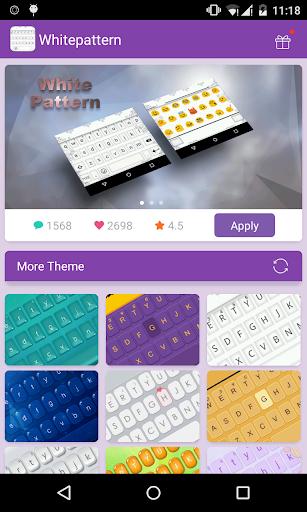 Emoji Keyboard-White Pattern