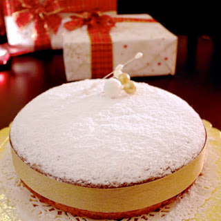 Greek New Year's Cake Made with Olive Oil -Vasilopita-.