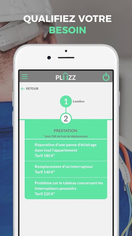 pliizz d pannage domicile applications android sur google play. Black Bedroom Furniture Sets. Home Design Ideas