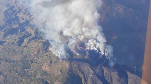 """La """"mala manipulación"""" de colmenas, posible origen del fuego de Sierra Cabrera"""