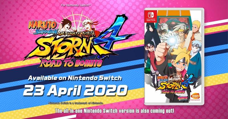 Naruto Shippuden Ultimate Ninja STORM 4 เตรียมลง Nintendo Switch