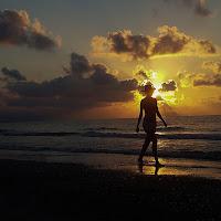 Passeggiata al tramonto di