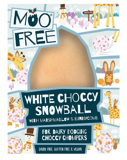 Snöboll mjölkfri vit choklad - Moo Free mjölkfri choklad
