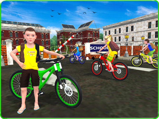 Kids School Time Bicycle Race Android 14
