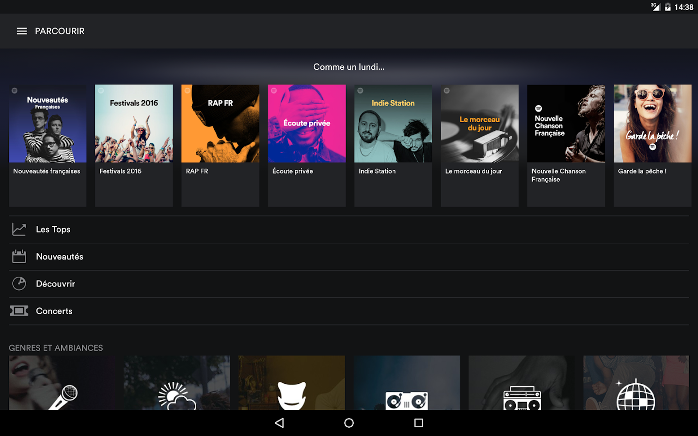 Spotify Music – Capture d'écran