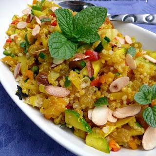 Minted Moroccan Quinoa Pilaf.