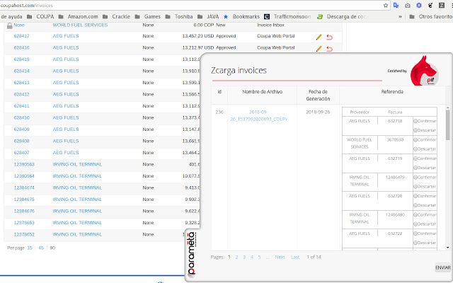 Zcarga_invoices plugin Test