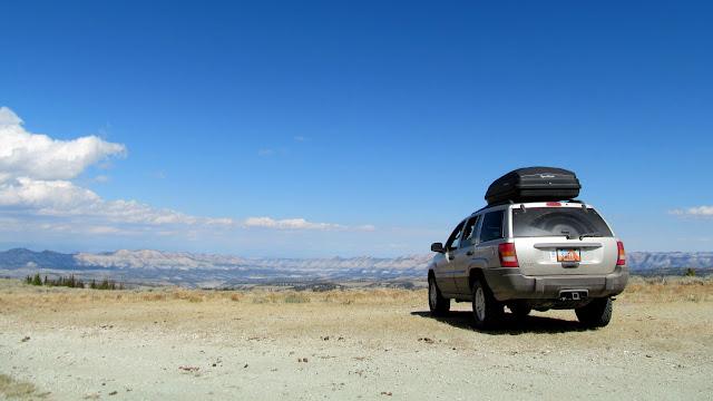 Jeep parked on Cat Peak