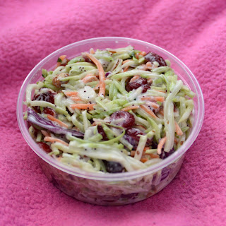 Broccoli Slaw with Cranberries and Lime Recipe