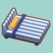 ストライプなベッド
