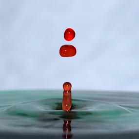 Waterdrop,  and Green by Tahir Sultan - Abstract Water Drops & Splashes ( #water, #nikon, #islamabad, #waterdrop, #splash )