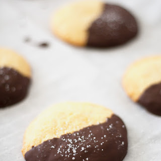 Dark Chocolate And Sea Salt Cornmeal Cookies.
