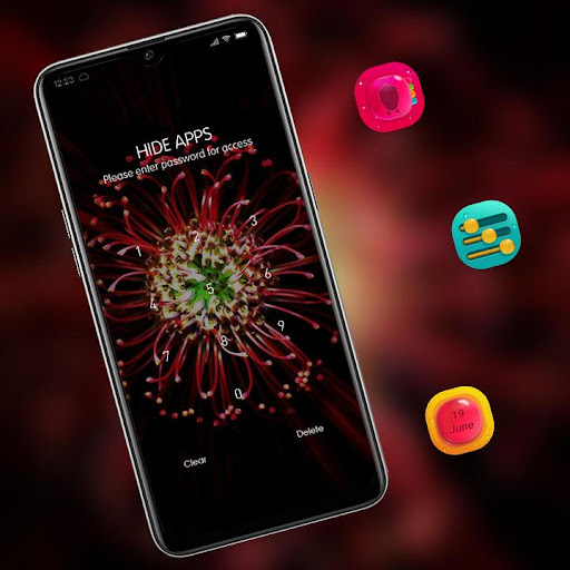 Red glowing full bloom flower theme 2.0.50 screenshots 3