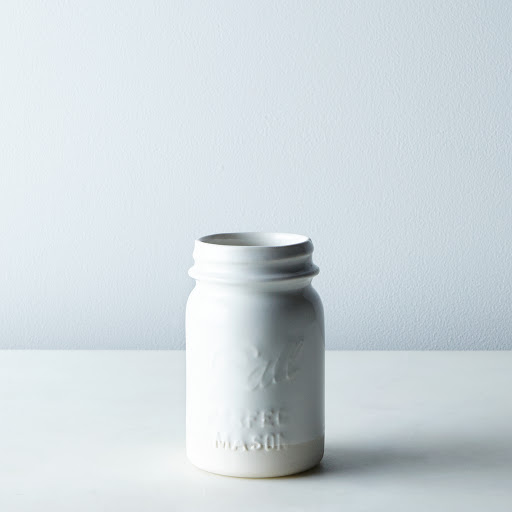Porcelain Ball Jar Cup