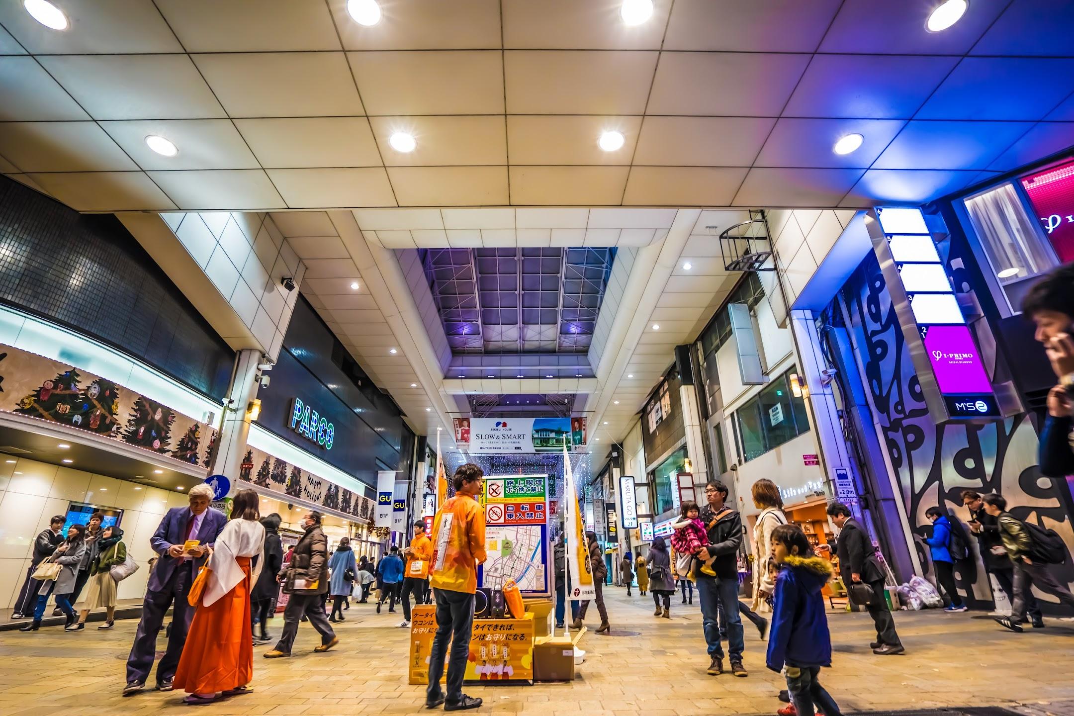 Kumamoto night Shimotori Shopping Arcade3