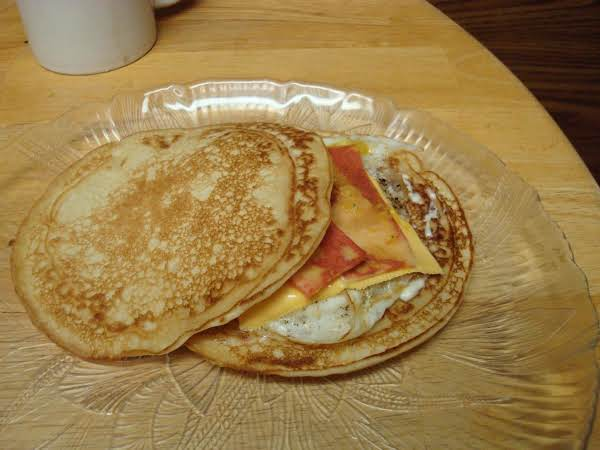 Breakfast Pancake And Egg Sandwich Recipe
