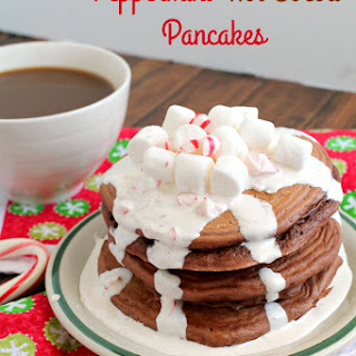 Peppermint Hot Cocoa Pancakes