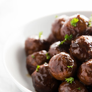 5 Ingredient Cranberry Glazed Turkey Slow Cooker Meatballs