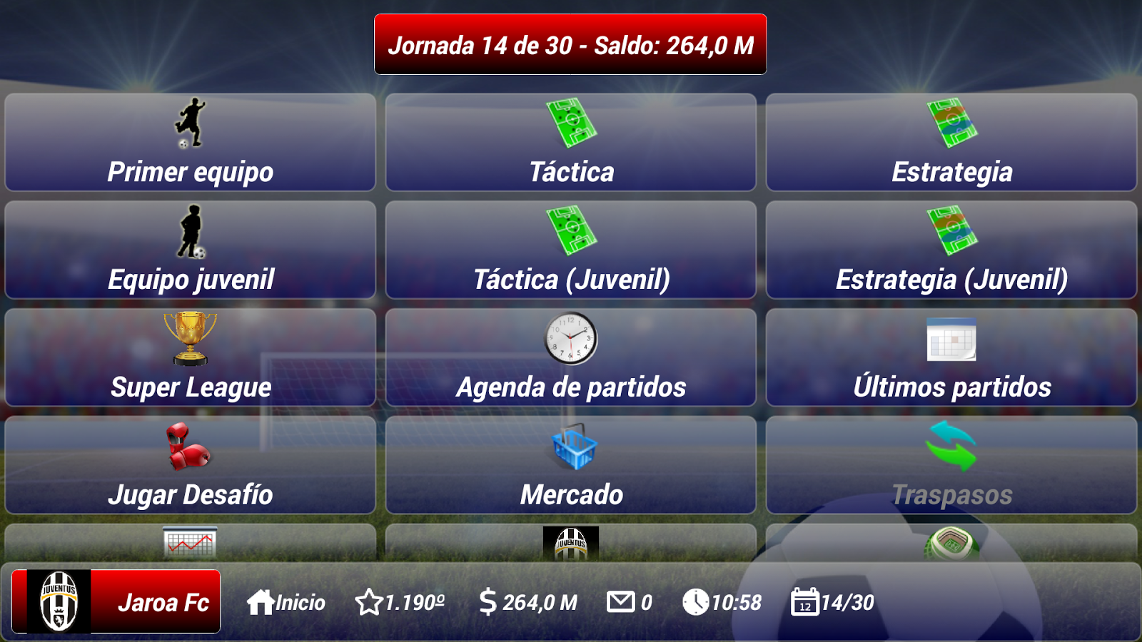 Soccer Manager 1- screenshot