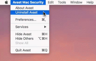 how to uninstall avast on mac