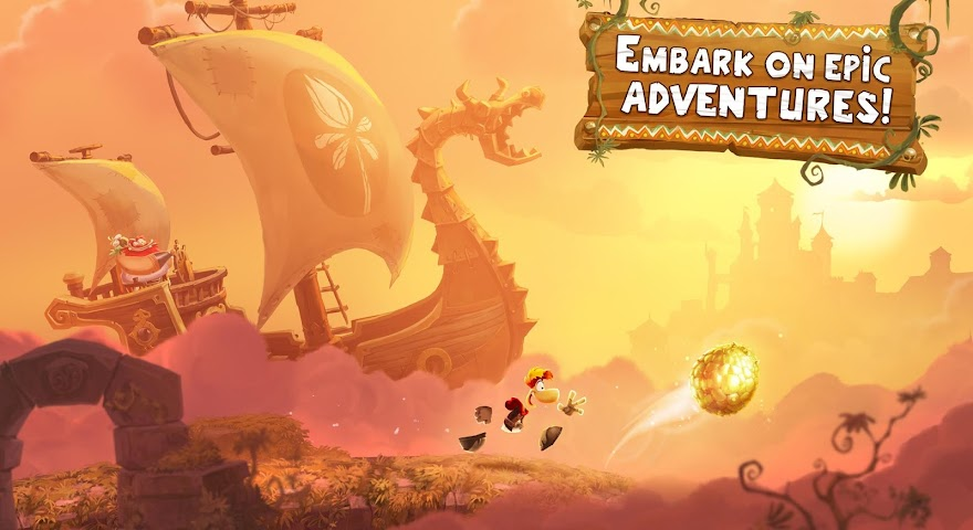 android Rayman Adventures Screenshot 0