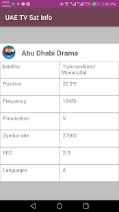 UnitedArabEmirates TV channels (Sat info)-FREE - náhled