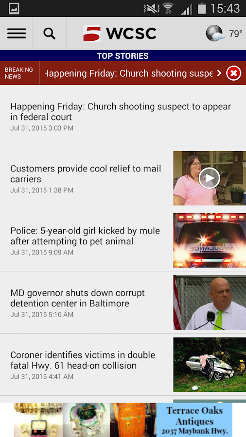 WCSC Live 5 News- screenshot