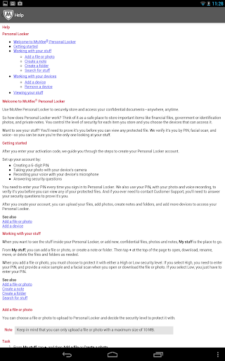McAfee Personal Locker screenshot 8