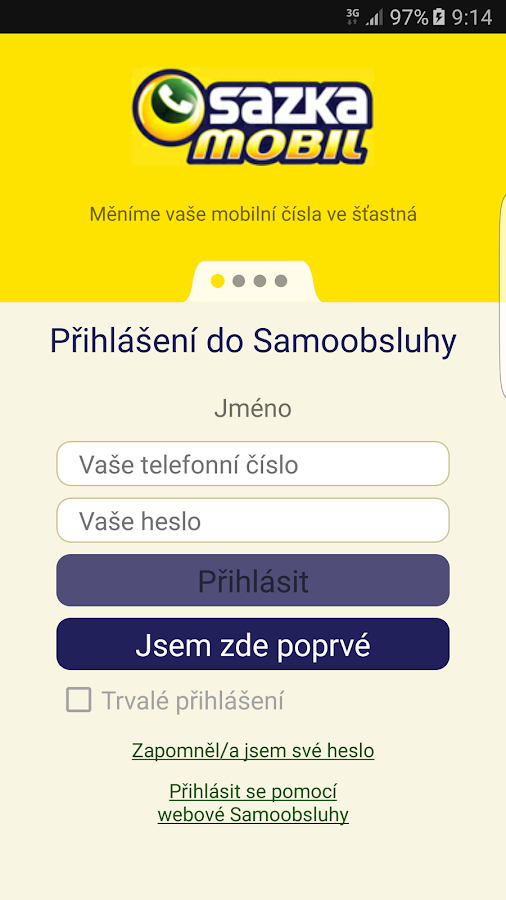 SAZKAmobil- screenshot