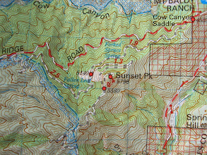 Photo: Tom Harrison map Angeles High Country (80 ft contours)