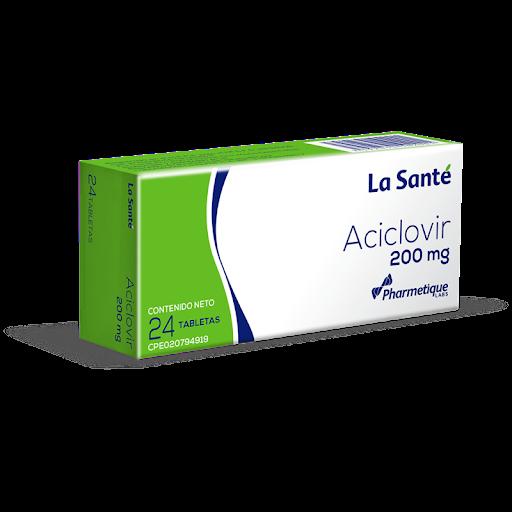 Aciclovir 200mg  24Tabletas La Sante