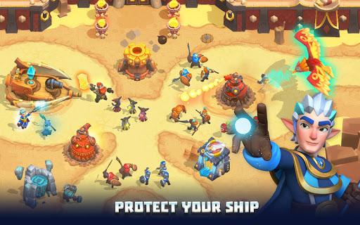 Wild Sky TD: Tower Defense Legends in Sky Kingdom screenshots 4