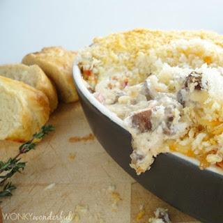 Cheesy Stuffed Mushroom Dip